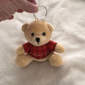 Coach teddy bear key chain